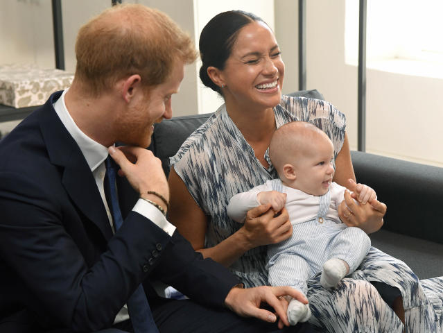 Prince Harry, wife Meghan and their son Archie in Cape Town, South Africa. (KGC-178/Star Max/IPx)