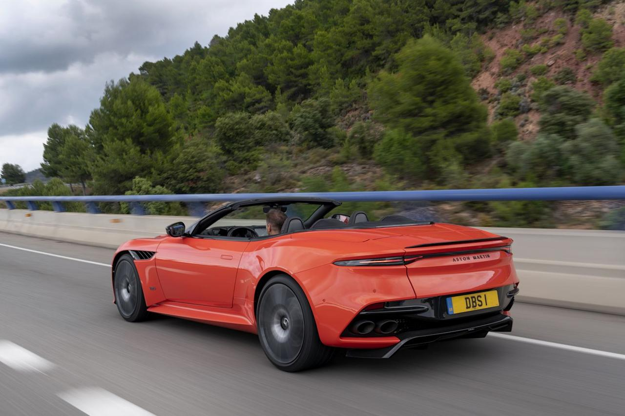 <p>Aston says the DBS Volante's 211-mph top speed makes it the fastest production convertible in its history.</p>