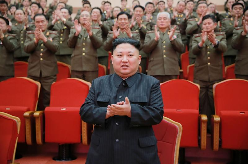 North Korean leader Kim Jong-Un (centre) has been in power since 2011 (AFP Photo/)