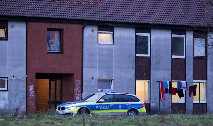 German investigators say the man had lived in this refugee shelter in Recklinghausen, western Germany (AFP Photo/Marcel Kusch)