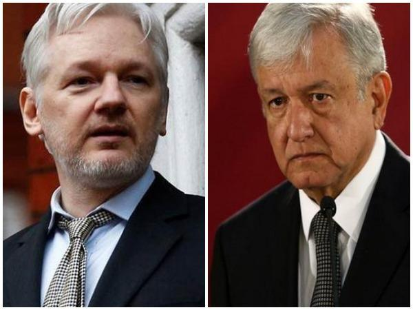 WikiLeaks founder Julian Assange and Mexican President Andres Manuel Lopez Obrador