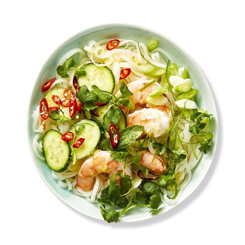 """<p>Rice noodles are delicious in stir fry, but they also taste great in salads. See for yourself in this rice noodle salad full of fresh herbs and shrimp. </p><p><a href=""""https://www.womansday.com/food-recipes/food-drinks/a28352282/rice-noodle-salad-recipe/"""" rel=""""nofollow noopener"""" target=""""_blank"""" data-ylk=""""slk:Get the recipe for Rice Noodle Salad."""" class=""""link rapid-noclick-resp""""><strong><em>Get the recipe for Rice Noodle Salad.</em></strong></a></p>"""