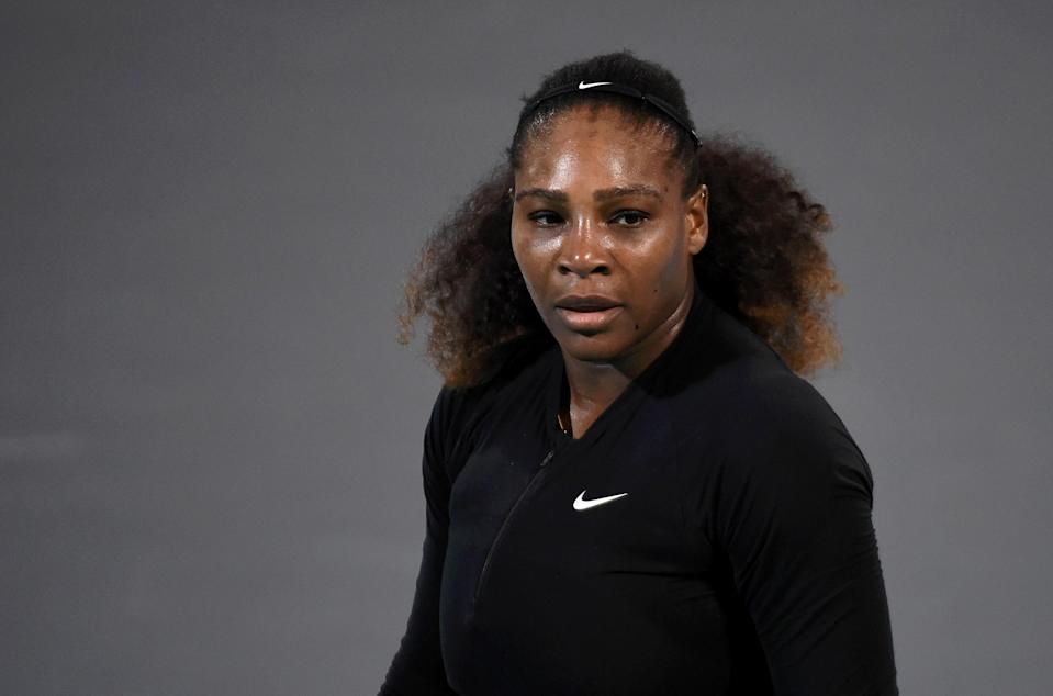 Serena Williams returned to the tennis court at the Mubadala World Tennis Championship in Abu Dhabi in late December. (Getty)