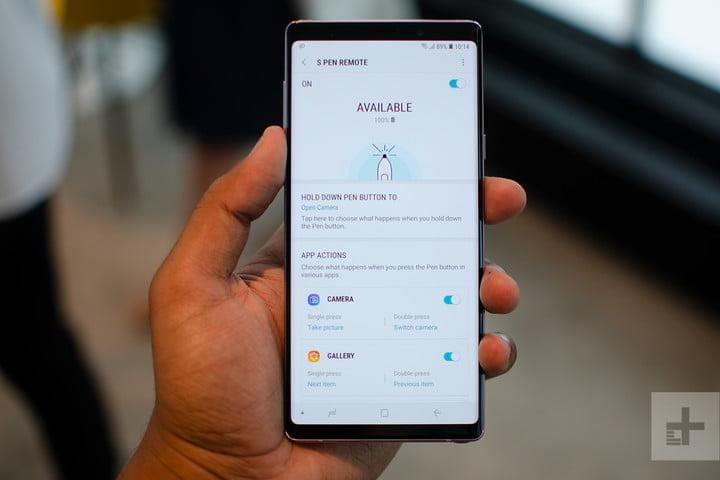 galaxy note 9 s9 plus hands on s pen remote settings 720x720
