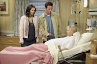 <p>Part of Monica Gellar's storyline was that she could not get pregnant, so when Cox was expecting during the final season of <em>Friends</em>, she hid her bump with jackets, loose clothing and scarves. It was still pretty obvious. </p>
