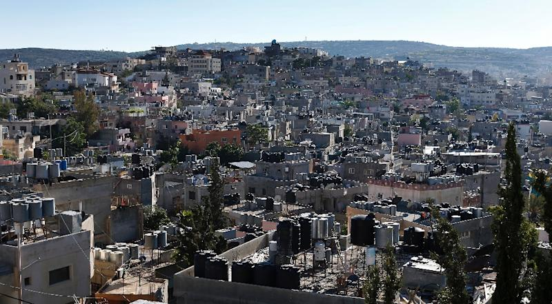 Tthe Palestinian refugee camp of Dheisheh near the West Bank Town of Bethlehem