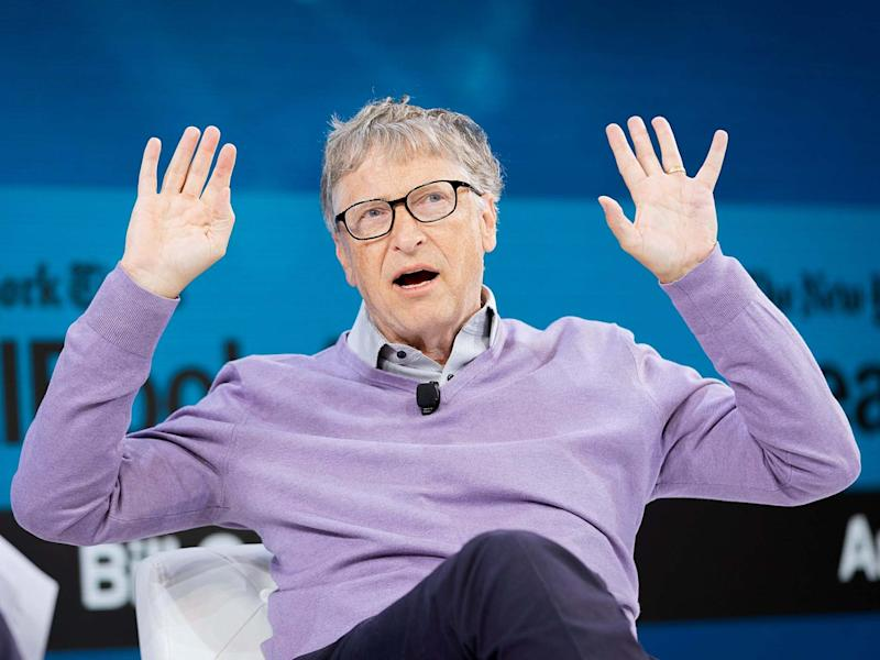 Bill Gates was speaking at 'The New York Times' DealBook conference on Wednesday: Michael Cohen/Getty Images for The New York Times