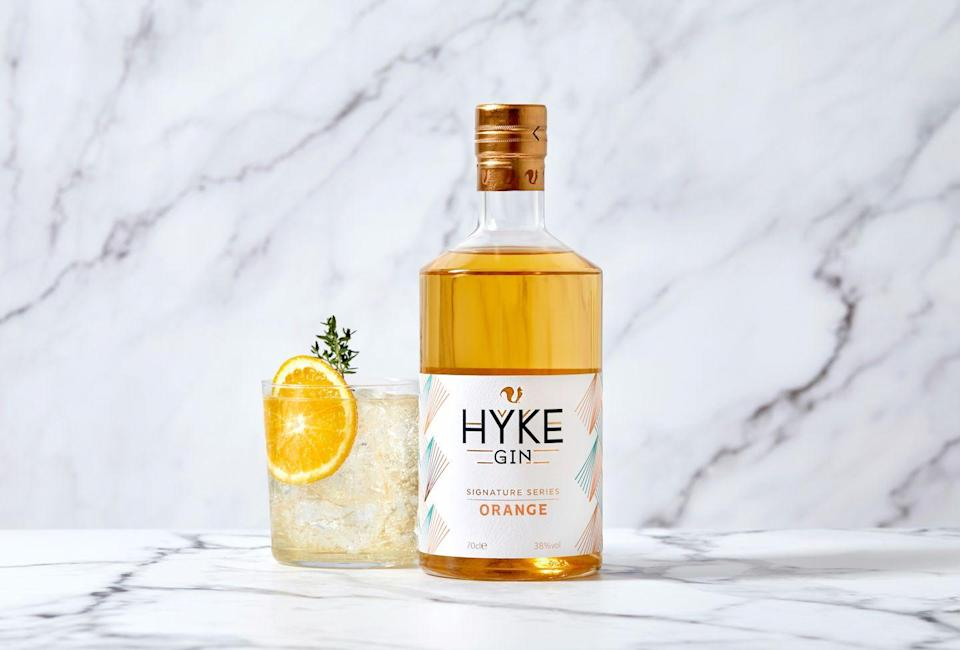"""<p>For <a href=""""https://www.foxholespirits.com/products/hyke-gin-orange"""" rel=""""nofollow noopener"""" target=""""_blank"""" data-ylk=""""slk:Hyke Signature Series Orange"""" class=""""link rapid-noclick-resp"""">Hyke Signature Series Orange</a>, oranges that would otherwise go unused are sourced, making this a sustainable spirit that strives to use the surplus. Fruit and botanicals are added to make the award-winning Hyke Gin. This is then supported with an additional botanical maceration for complexity and balance. The result is a zesty, fruity and delicious orange gin. Produced by Foxhole Spirits, this orange gin has a spicy scent and a wonderfully citrus flavour. </p><p>Pair it with <a href=""""https://www.navasdrinks.com/mixers/ginger-ale"""" rel=""""nofollow noopener"""" target=""""_blank"""" data-ylk=""""slk:Navas ginger ale"""" class=""""link rapid-noclick-resp"""">Navas ginger ale</a> for a spicy spring taste. Founded in Cornwall, Navas exists to elevate the individual qualities of the spirits it is paired with, to create an enhanced drinking experience. Working with distillers, Navas carefully experiments with recipes to develop mixers that that are as considered as the spirit, honouring the traditions and dedication that go into making them.</p>"""