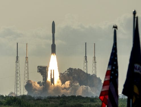 """<span class=""""caption"""">Mars 2020 Perseverance space mission launches from Kennedy Space Center.</span> <span class=""""attribution""""><a class=""""link rapid-noclick-resp"""" href=""""https://webgate.epa.eu/webgate"""" rel=""""nofollow noopener"""" target=""""_blank"""" data-ylk=""""slk:CRISTOBAL HERRERA-ULASHKEVICH/EPA-EE""""> CRISTOBAL HERRERA-ULASHKEVICH/EPA-EE</a></span>"""