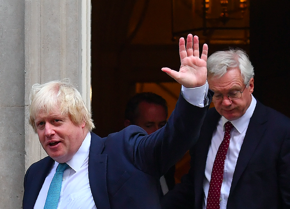 Boris Johnson and David Davis warned that voters will not forgive the PM for surrendering to Brussels (Getty)