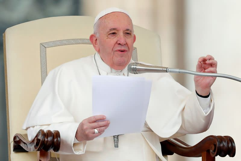 Pope Francis holds the weekly general audience at Vatican