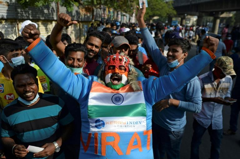 As many as 15,000 fans from India's famously noisy and vibrant fanbase -- the largest in the world -- will be allowed to watch each of the Test's five days