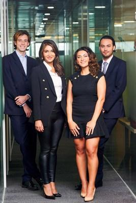 Eclipse Air Charter Global Management Team from left to right: Harry Pike, Yasmin Alam, Lily Karapetyan, Erik Khor. (CNW Group/Eclipse Air Charter)