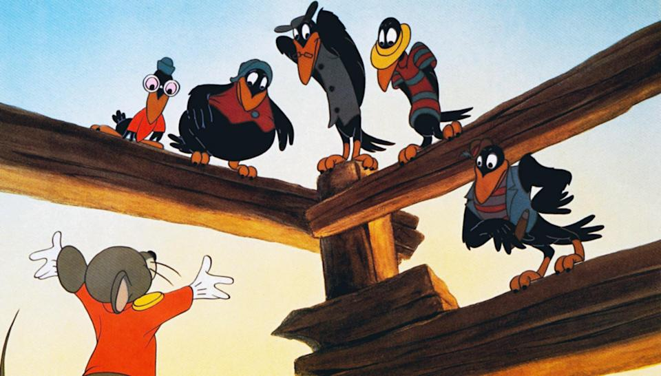 The crow scene is the most notorious part of the animated <em>Dumbo</em>. (Photo: Everett Collection)