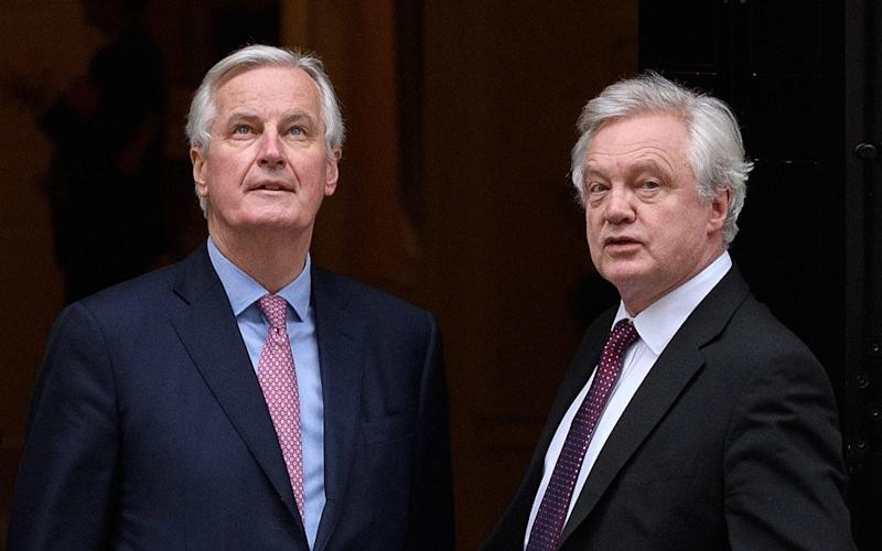 Michel Barnier and David Davis - Getty Images Europe