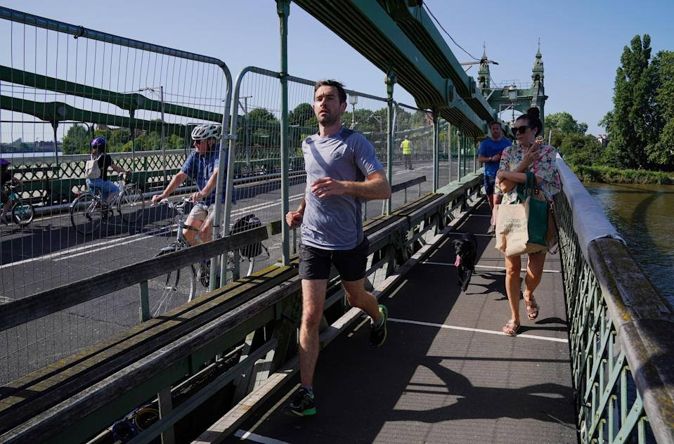 Safety checks allowed for the bridge to partially reopen (Jonathan Brady/PA) (PA Wire)