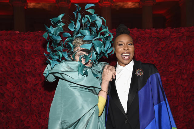 Frances McDormand and Lena Waithe at the Met Gala on Monday. (Photo: Kevin Mazur/MG18/Getty Images for the Met Museum/Vogue)