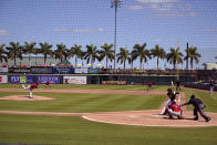 Philadelphia Phillies pitcher David Hale delivers during the fifth inning of a spring training exhibition baseball game against the Pittsburgh Pirates at LECOM Park in Bradenton, Fla., Sunday, March 14, 2021. (AP Photo/Gene J. Puskar)
