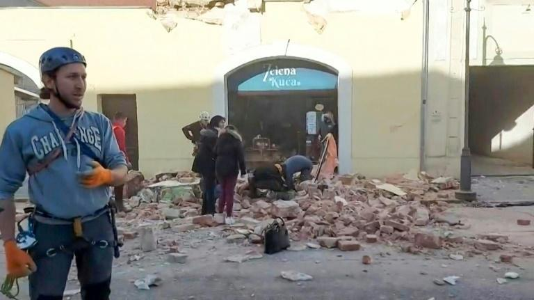 Residents and rescue workers were scouring through rubble after the quake