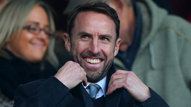 England boss Southgate takes in Rugby League match during Manchester derby