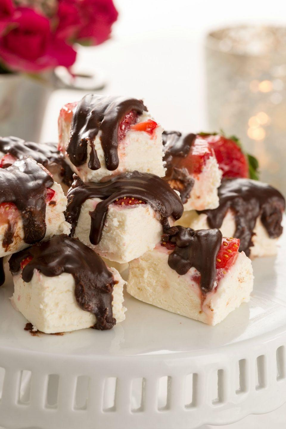 "<p>It's the sexiest dessert you'll ever make.</p><p>Get the recipe from <a href=""https://www.delish.com/cooking/recipes/a45914/chocolate-covered-strawberry-fudge-recipe/"" rel=""nofollow noopener"" target=""_blank"" data-ylk=""slk:Delish"" class=""link rapid-noclick-resp"">Delish</a>.</p>"