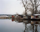 <p>Furgury shacks, Hudson, N.Y., in fall 2016. (© <span>Tema</span> <span>Stauffer</span> from the book <i>Upstate </i>published by Daylight Books) </p>