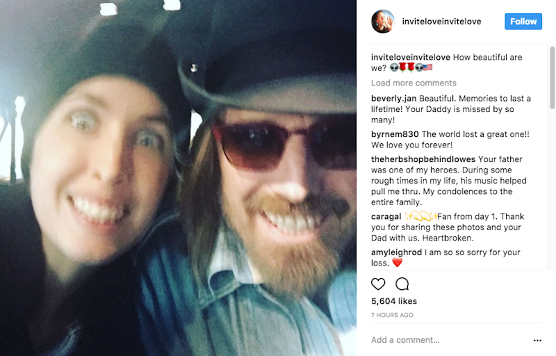 She also shared a photo of her with her late dad. Source: Instagram