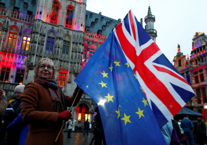 Celebration of friendship between Belgium and Britain at Brussels' Grand Place
