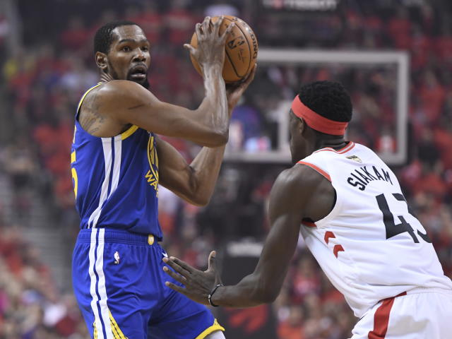 Kevin Durant agreed to sign with the Brooklyn Nets on Sunday. (Frank Gunn/The Canadian Press via AP)