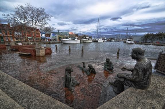Coastal flooding in Annapolis, Maryland, in 2012.
