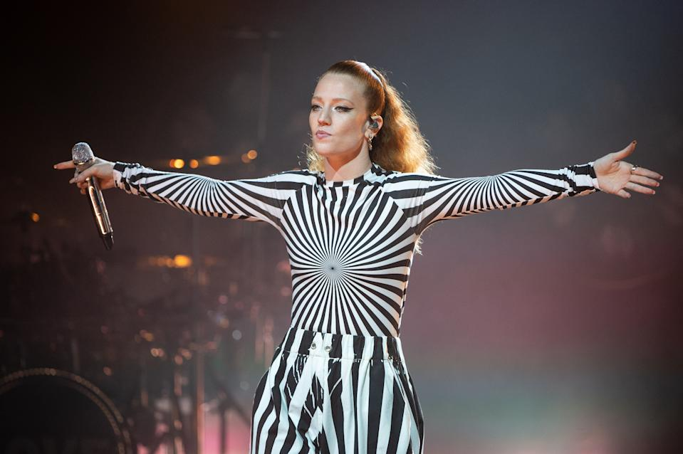 LONDON, ENGLAND - OCTOBER 30: Jess Glynne performs on stage during McDonald's I'm Lovin' It Live at The Printworks on October 30, 2020 in London, England. (Photo by Dave J Hogan/Getty Images)