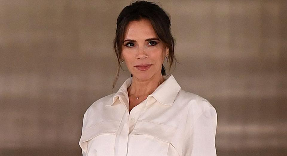 Victoria Beckham reveals her beauty and skincare secrets, including the eco-friendly buy she relies on to remove make-up.  (Getty Images)