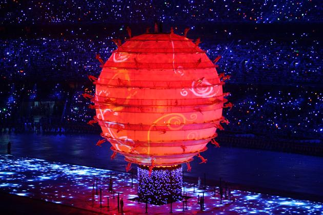 BEIJING - AUGUST 08:  Artists perform on a large globe during the Opening Ceremony for the 2008 Beijing Summer Olympics at the National Stadium on August 8, 2008 in Beijing, China.  (Photo by Mike Hewitt/Getty Images)