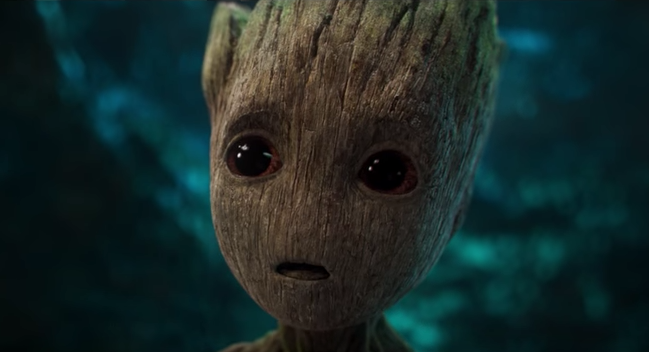 Baby Groot in the 'Guardians of the Galaxy Vol. 2' trailer