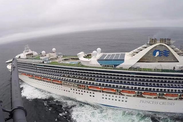 The Grand Princess cruise ship is currently under quarantine off the coast of San Francisco, California. (AP)