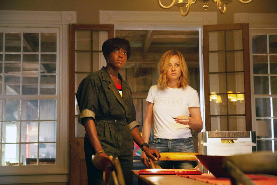 CAPTAIN MARVEL, from left: Lashana Lynch as Maria Rambeau, Brie Larson as Carol Danvers / Captain Marvel, 2019. ph: Chuck Zlotnick /  Walt Disney Studios Motion Pictures /  Marvel / courtesy Everett Collection