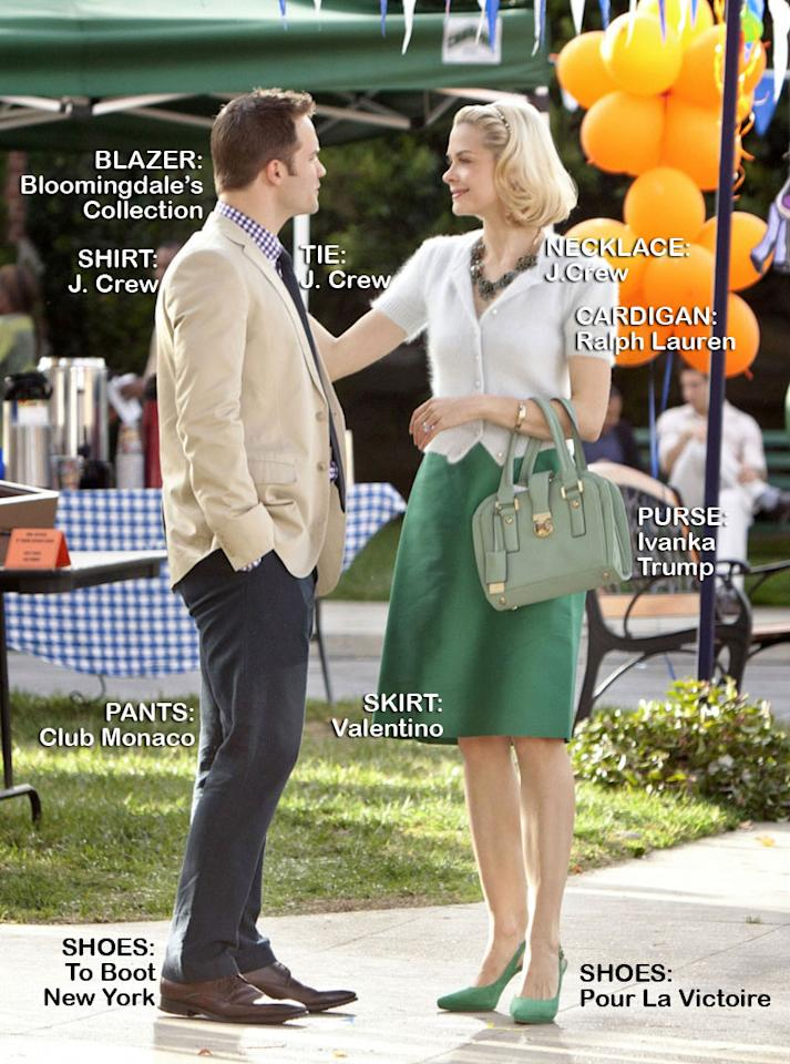 "Scott Porter as George Tucker and Jaime King as Lemon in the Season 1 episode ""Aliens and Aliases."""