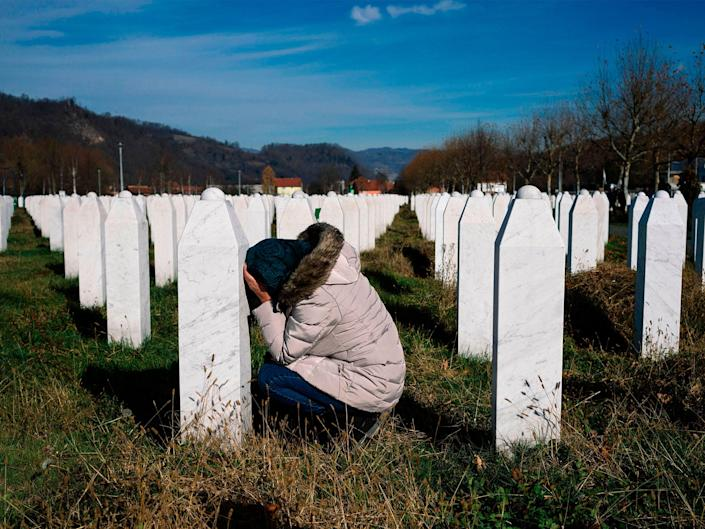 More than 8,000 Muslim Bosniaks were murdered as part of a genocide carried out by units of Bosnian Serb forces: Getty