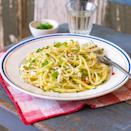"""<p>Focusing on just a few ingredients allows their flavours to shine in this tempting pasta recipe - with courgettes and goats cheese.</p><p><strong>Recipe: <a href=""""https://www.goodhousekeeping.com/uk/food/recipes/courgette-and-goat-cheese-spaghetti"""" rel=""""nofollow noopener"""" target=""""_blank"""" data-ylk=""""slk:Courgette and goat's cheese spaghetti"""" class=""""link rapid-noclick-resp"""">Courgette and goat's cheese spaghetti</a></strong></p>"""