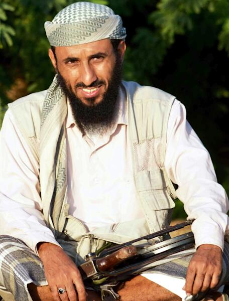 A picture taken on April 28, 2012 shows AQAP chief Nasser al-Wuhayshi in the militant stronghold town of Jaar, in Yemen's southern Abyan province (AFP Photo/)