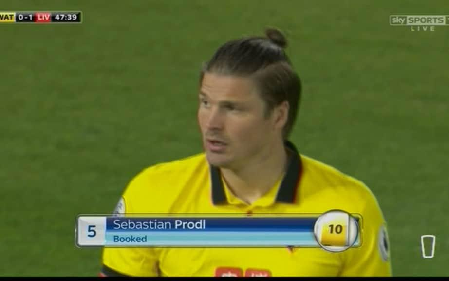 Sebastian Prodl boy with a bun - Credit: Sky Sports