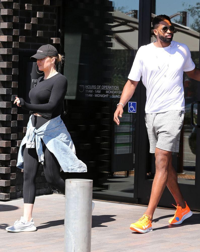 Kardashian and Thompson were seen grabbing lunch on Wednesday
