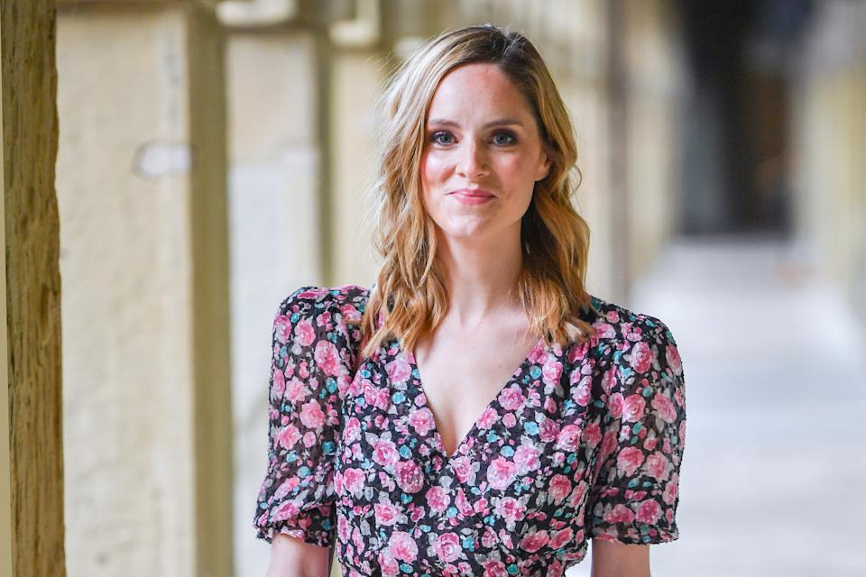 """HALIFAX, ENGLAND - MAY 09: Sophie Rundle attends """"BBC One Drama Gentleman Jack"""" Yorkshire Premiere at The Piece Hall on May 09, 2019 in Halifax, England. (Photo by Anthony Devlin/Getty Images)"""
