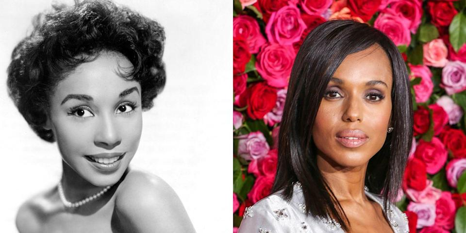 <p>Not only are Diahann Carroll and Kerry Washington both talented actresses, the two women look a lot alike with their wide set eyes and oval-shaped faces. </p>