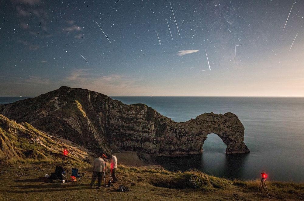 <p>One of the brighter meteor showers of the year, the Perseids happens annually between 17 July and 24 August, this year peaking 12-13 August. The best time to view the shooting stars is between midnight and dawn (Geoff Robinson Photography/REX/Shutterstock) </p>