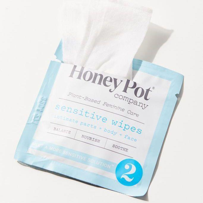 "<p><strong>The Honey Pot Company</strong></p><p>urbanoutfitters.com</p><p><strong>$8.00</strong></p><p><a href=""https://go.redirectingat.com?id=74968X1596630&url=https%3A%2F%2Fwww.urbanoutfitters.com%2Fshop%2Fthe-honey-pot-company-sensitive-feminine-hygiene-wipe-pack&sref=https%3A%2F%2Fwww.goodhousekeeping.com%2Fhealth-products%2Fg32754606%2Fbest-feminine-wipes%2F"" rel=""nofollow noopener"" target=""_blank"" data-ylk=""slk:Shop Now"" class=""link rapid-noclick-resp"">Shop Now</a></p><p>Made with rayon fiber, these feminine wipes from Honey Pot have no fragrance added, but have acai, Aloe, and chamomile extract. These wipes are designed for sensitive skin, but the brand offers feminine wipes for people with <a href=""https://www.target.com/p/the-honey-pot-normal-intimate-wipes-travel-size-15ct/-/A-79140778"" rel=""nofollow noopener"" target=""_blank"" data-ylk=""slk:normal skin"" class=""link rapid-noclick-resp"">normal skin</a> too.</p><p><strong>Count: </strong>15 wipes <strong><br>Price per wipe: </strong> ~$0.53</p>"