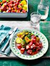 """<p>The mango chutney is an integral part of the dish, bringing a sweet and tangy finish to the mellow spiced potatoes and spinach</p><p><strong>Recipe: <a href=""""https://www.goodhousekeeping.com/uk/food/recipes/a29204984/paneer-curry/"""" rel=""""nofollow noopener"""" target=""""_blank"""" data-ylk=""""slk:Tandoori Paneer and Saag Aloo Traybake"""" class=""""link rapid-noclick-resp"""">Tandoori Paneer and Saag Aloo Traybake</a></strong></p>"""