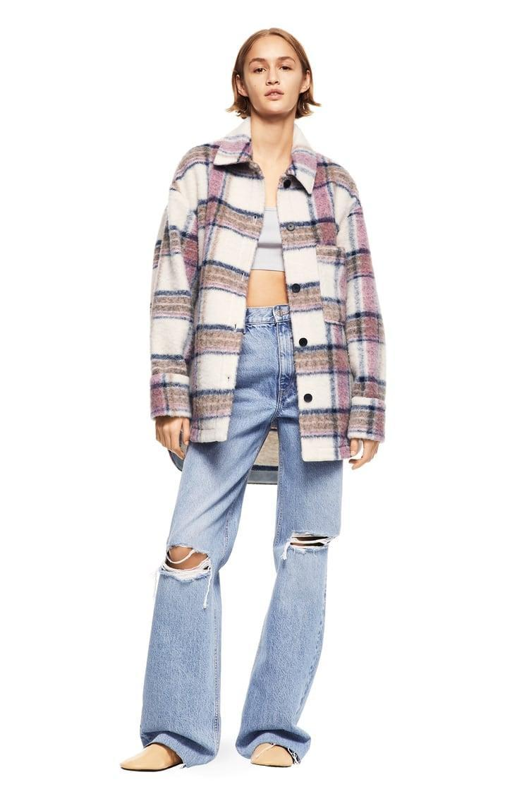 <p>Layer this <span>Plaid Overshirt</span> ($90) with a simple tee.</p>