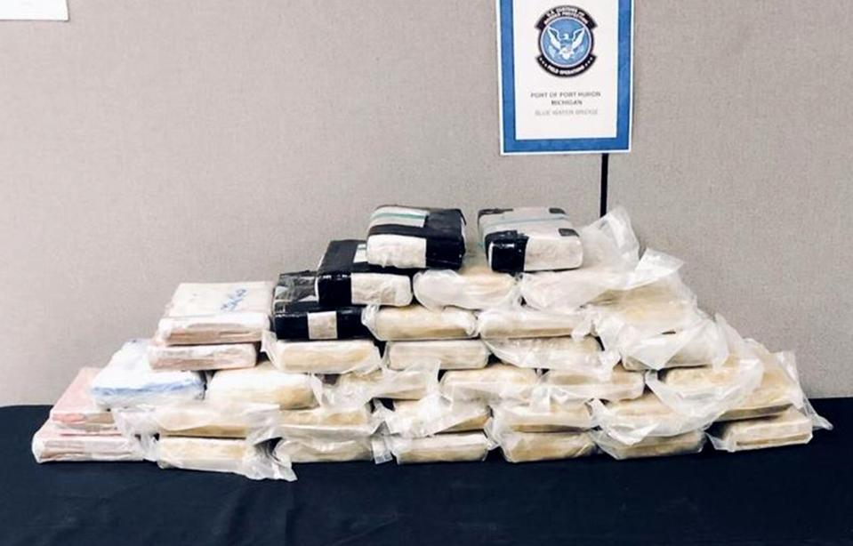 Image: Drugs seized at Blue Water Bridge in Port Huron, Mich., on April 17, 2020. (U.S. Customs and Border Protection)