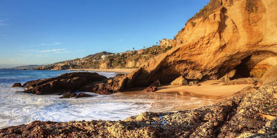 """<p><strong>Best for Caves</strong></p><p>The Laguna Beach area is filled with numerous 'gram-worthy strands, but one of the most unique is <a href=""""https://go.redirectingat.com?id=74968X1596630&url=https%3A%2F%2Fwww.tripadvisor.com%2FAttraction_Review-g32588-d561800-Reviews-1_000_Steps_Beach-Laguna_Beach_California.html&sref=https%3A%2F%2Fwww.redbookmag.com%2Flife%2Fg37132327%2Ftop-california-beach-vacations%2F"""" rel=""""nofollow noopener"""" target=""""_blank"""" data-ylk=""""slk:Thousand Steps"""" class=""""link rapid-noclick-resp"""">Thousand Steps</a>, which is home to a sea cave. The beach itself is hard to find, and it does have more than 200 (though not a thousand!) steps to get down to the sand, but it's worth the effort. The cave is on the beach's southern end, and during low tide, you can walk into it and explore.</p><p><strong><em>Where to Stay: </em></strong><a href=""""https://go.redirectingat.com?id=74968X1596630&url=https%3A%2F%2Fwww.tripadvisor.com%2FHotel_Review-g32588-d119385-Reviews-Casa_Laguna_Hotel_Spa-Laguna_Beach_California.html&sref=https%3A%2F%2Fwww.redbookmag.com%2Flife%2Fg37132327%2Ftop-california-beach-vacations%2F"""" rel=""""nofollow noopener"""" target=""""_blank"""" data-ylk=""""slk:Casa Laguna Hotel & Spa"""" class=""""link rapid-noclick-resp"""">Casa Laguna Hotel & Spa</a>, <a href=""""https://go.redirectingat.com?id=74968X1596630&url=https%3A%2F%2Fwww.tripadvisor.com%2FHotel_Review-g32588-d267104-Reviews-Montage_Laguna_Beach-Laguna_Beach_California.html&sref=https%3A%2F%2Fwww.redbookmag.com%2Flife%2Fg37132327%2Ftop-california-beach-vacations%2F"""" rel=""""nofollow noopener"""" target=""""_blank"""" data-ylk=""""slk:Montage Laguna Beach"""" class=""""link rapid-noclick-resp"""">Montage Laguna Beach</a></p>"""
